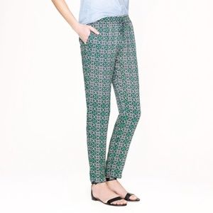 J. crew Campbell Capri Lattice Medallion Pants 0
